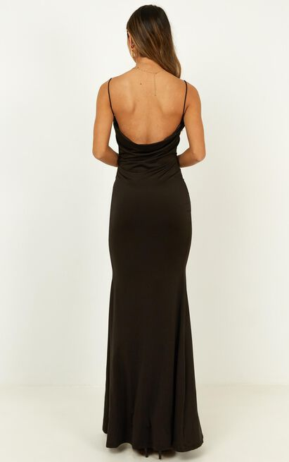 Tasteful dress in black - 20 (XXXXL), Black, hi-res image number null