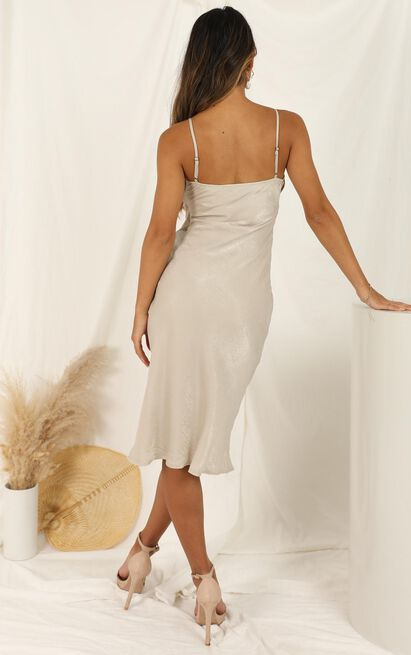 Risk It With Me dress in champagne - 12 (L), Beige, hi-res image number null