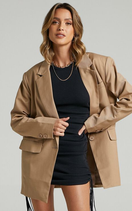 Lioness - Welcome To The Jungle Blazer in Beige