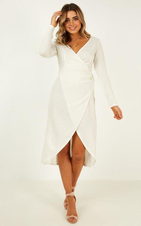 Feeling Electric Knit Dress In White
