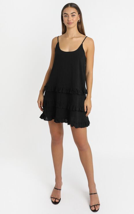 Long Reflections Dress in Black