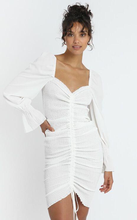 Megan Dress in White