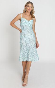 Elki Midi Dress in Sage Floral