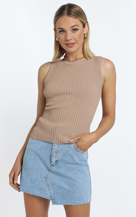 Laylah Knit Top in Beige