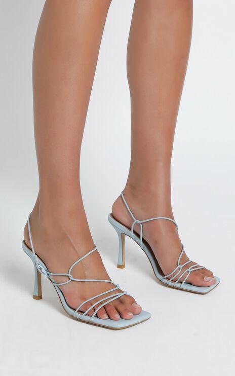 Alias Mae - Leyla Heel in Pale Blue Leather
