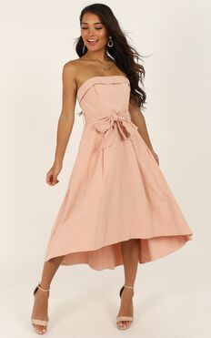 Make Me Rosy Dress In Blush