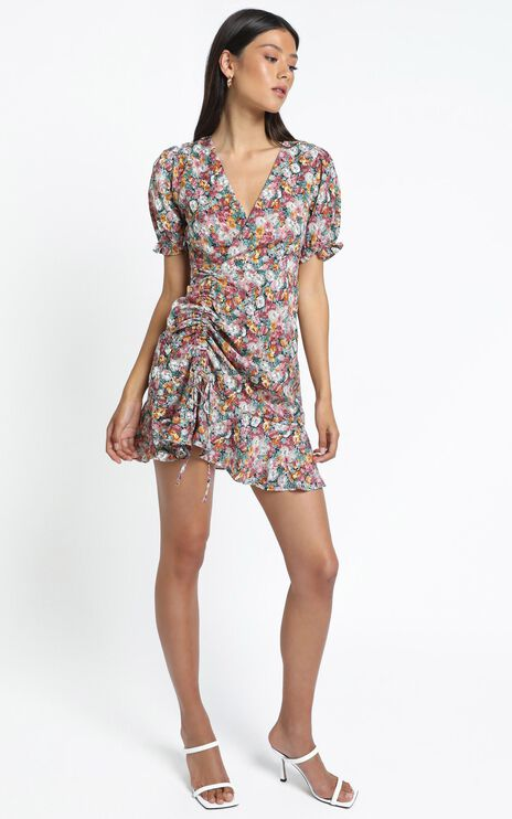 Saunders Dress in Multi Floral