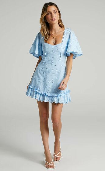 Fancy A Spritz Dress in Powder Blue