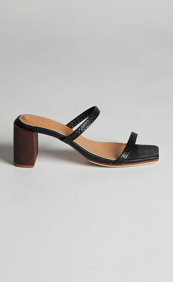 James Smith - Sirenuse Strap Sandal in Black Croc