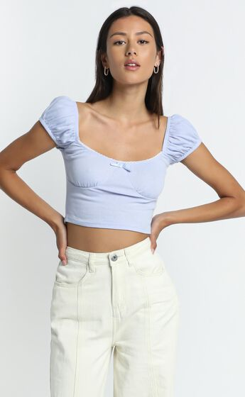 Halle Top in Lilac
