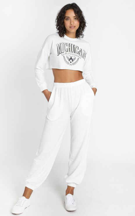 Layla Two Piece Set in White