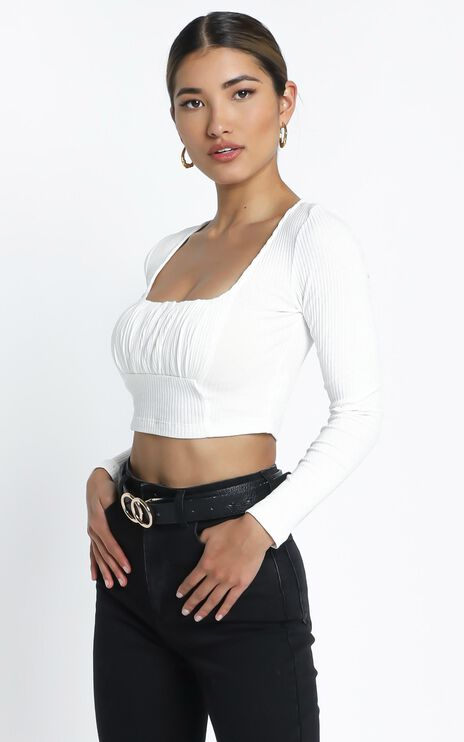 Chante Long Sleeve Top in White