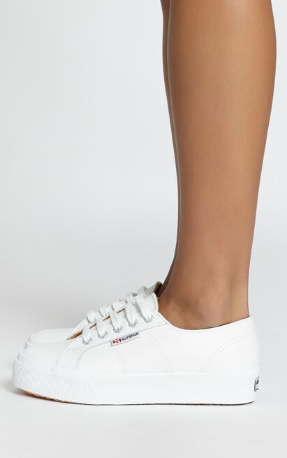 Superga - 2730 Nappaleau Sneakers in white leather - 11, White, hi-res image number null