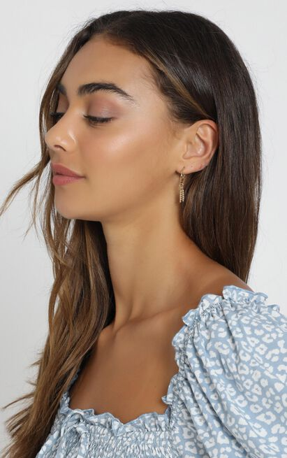 Minc Collections - Tropic Charm Hoop Earrings In Gold, , hi-res image number null