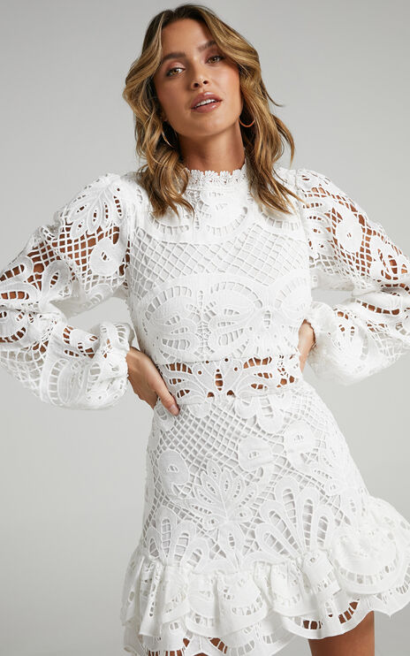 Kiss Me Now Dress in White
