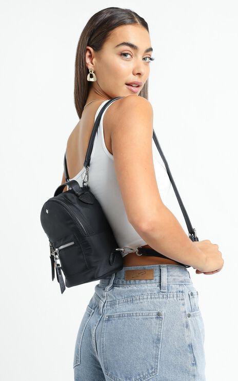 Peta and Jain - Zoe Mini Backpack in Black Nylon