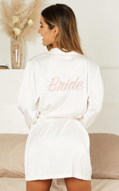 Ellena Bride Robe in white satin - 4 (XXS), White, hi-res image number null