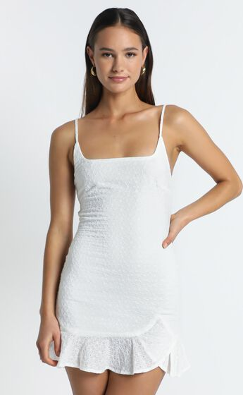 Words To Me Dress In White