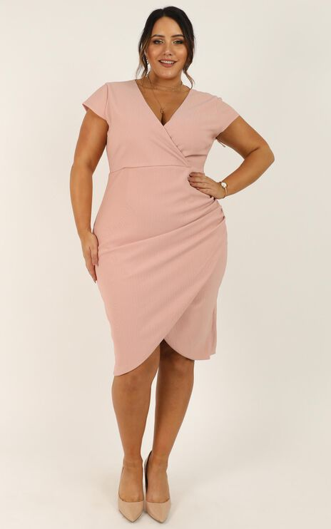 Quick Decider Dress In Blush
