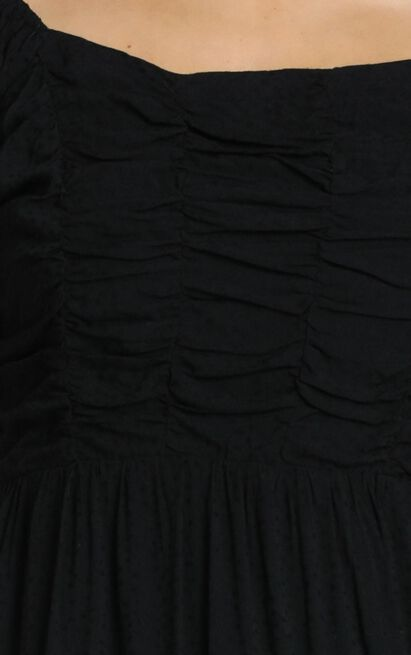 Act Natural Tiered Dress In black - 6 (XS), Black, hi-res image number null