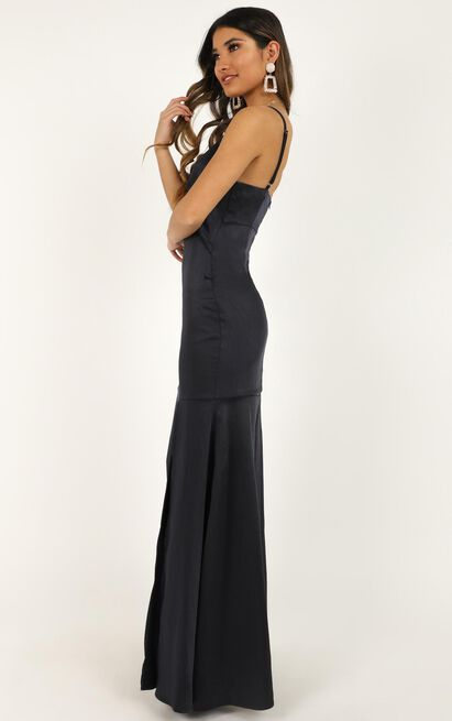 How Sweet It Is To Love Someone Dress in navy satin - 20 (XXXXL), Navy, hi-res image number null