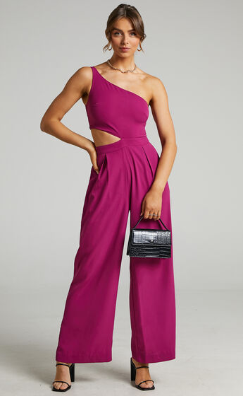 Beautiful Darkness Jumpsuit in Mulberry