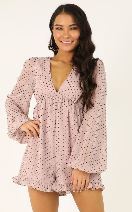 Popping Candy Playsuit In Blush Spot