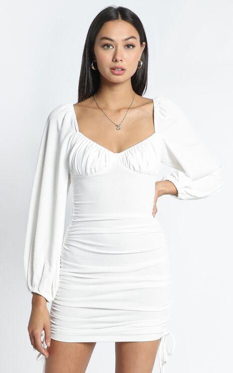 Harrington Dress in White