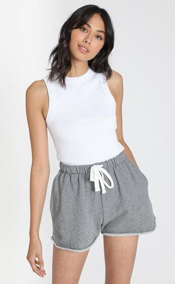 AS Colour - Perry Track Shorts in Steel Marl