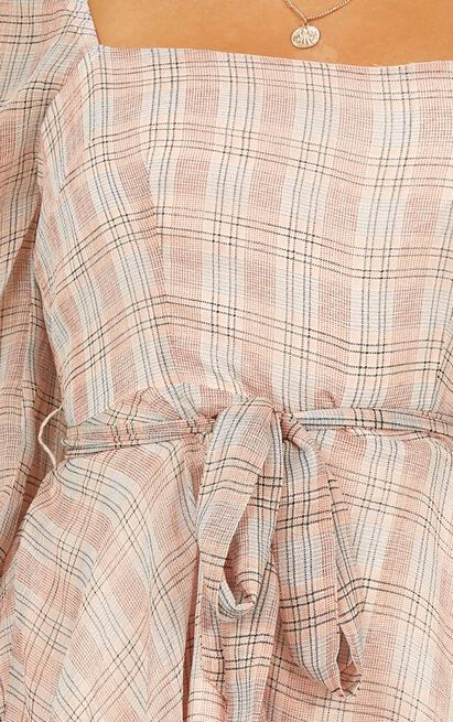 Move and Shake dress in peach check - 20 (XXXXL), Beige, hi-res image number null