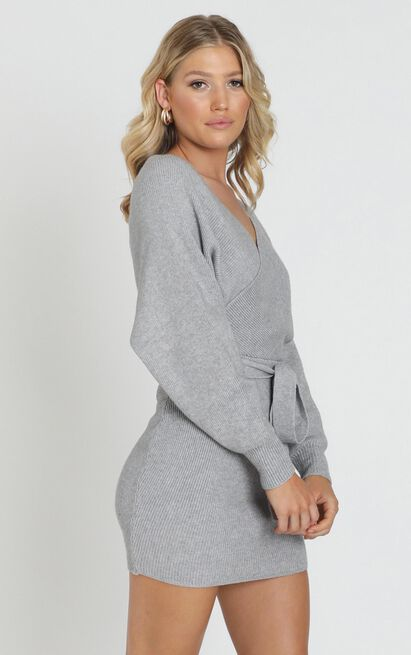 Dont Fall down knit dress in grey - 6 (XS), Grey, hi-res image number null