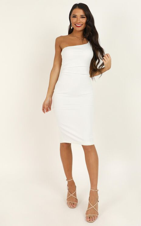 Got Me Looking Dress in White