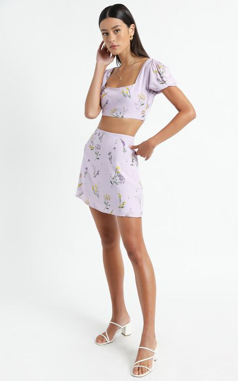 Are You Up To It Two Piece Set in Lavender Botanical Floral