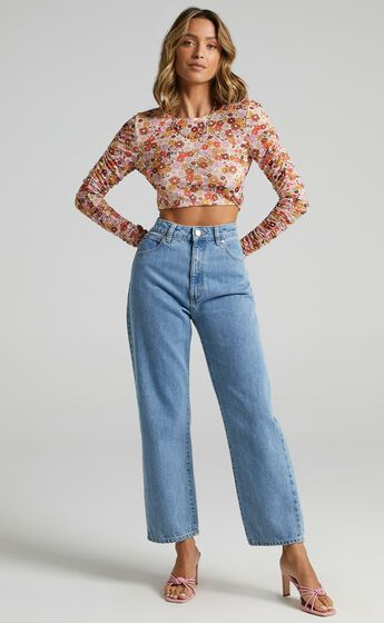 Rules Dont Matter Top in Sahara Ditsy Floral Print