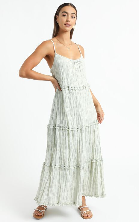 Coastal Breeze Dress in Sage