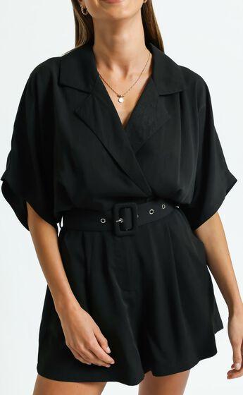 Tonia Playsuit in Black
