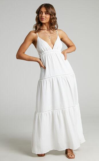Alexandrina  Maxi Dress in White