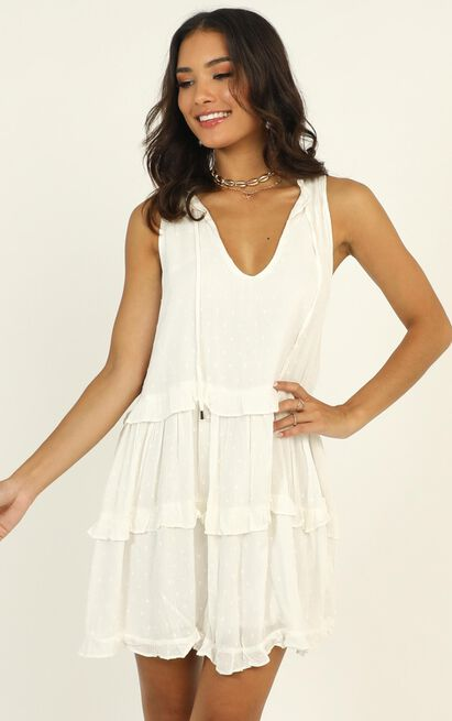 Weekend Away Mini Dress in white - 12 (L), White, hi-res image number null