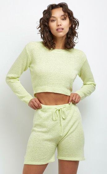 Dacia Knit Shorts in Yellow