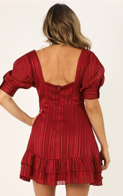 True as it can be dress  in wine lurex - 20 (XXXXL), Wine, hi-res image number null