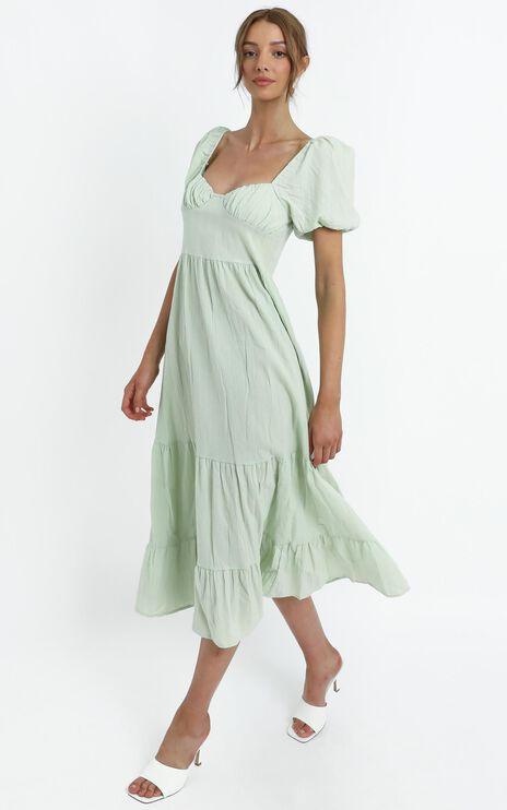 Preston Dress in Sage
