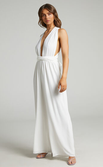 Girls Life Jumpsuit in White