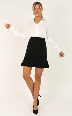 Smooth Talker Skirt In Black