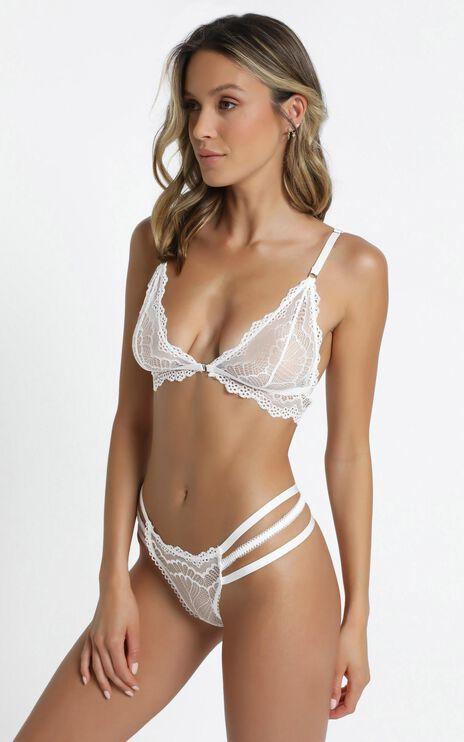 Kat The Label - Vienna Bralette in White