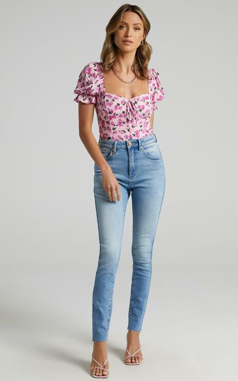 Kassia Top in Lilac Floral