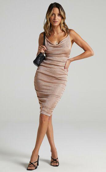 Nellie Dress in Gold Lurex