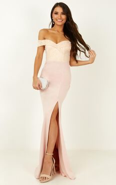 Rise To The Top Dress In Blush