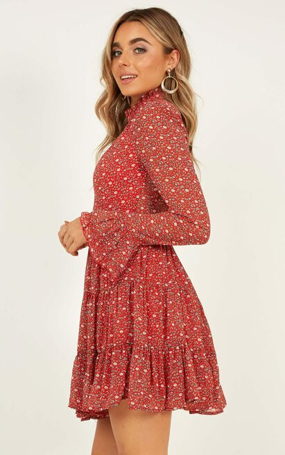 Final Call dress in red print - 12 (L), Red, hi-res image number null