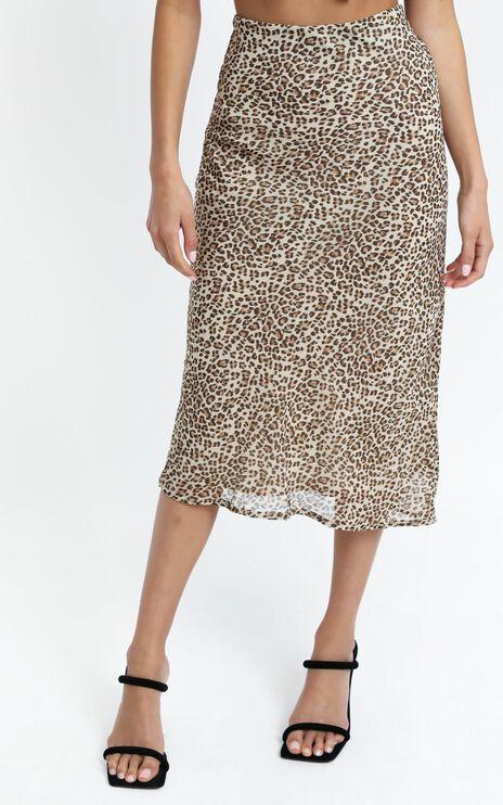 Larissa Skirt in Leopard Print