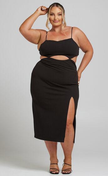 Harper Cut Out Underbust Dress in Black